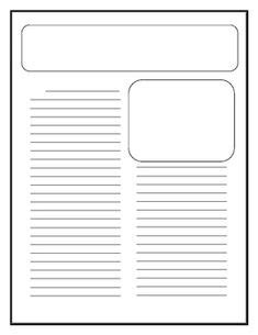 Free Writing Papers For Kids On Pinterest Writing Papers Creative Writing And Writing Prompts Printable Newspaper Article Template For Students