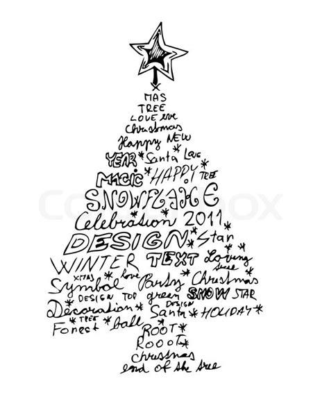 doodle god nieve gezeichnet weihnachtsbaum auf dem wei 223 en hintergrund