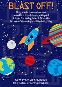 space birthday party printable invitation the