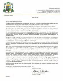 Petition Letter Of Annulment Diocese Of Pgh On Quot Pittsburgh Catholic Bishop Zubik S Letter On Ending Annulment