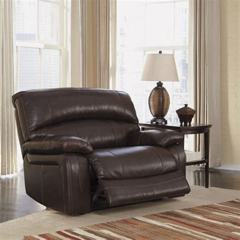 leather oversized recliner ashley furniture damacio leather zero wall recliner in