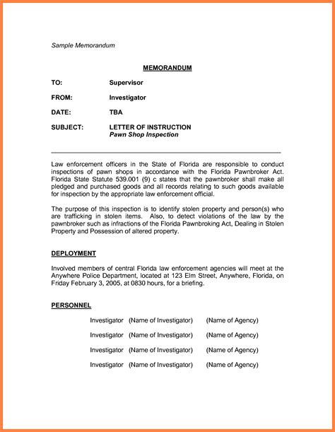 Memorandum Template by 8 Memorandum Exle Marital Settlements Information