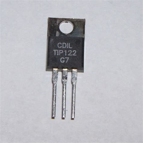 transistor npn gain 100 tip122 npn darlington transistor 100v 5a to220 pack of 1