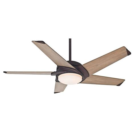 54 casablanca stealth ceiling fan shop casablanca stealth led 54 in industrial rust downrod