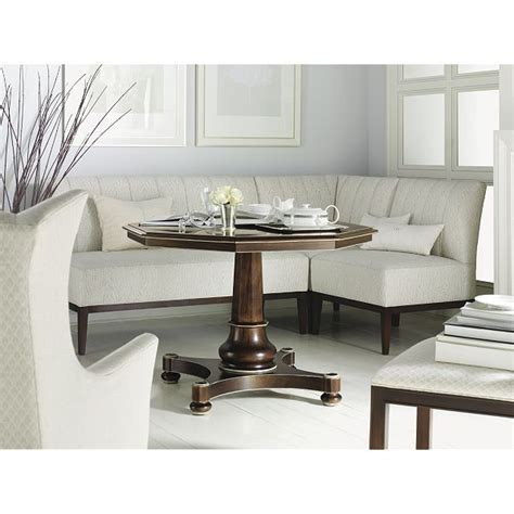 Banquette Dining Set by Banquette With Pedestal Table Corner In Front Of Window