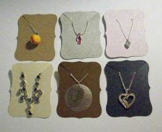necklace card holder template jewelry card necklace display earring by
