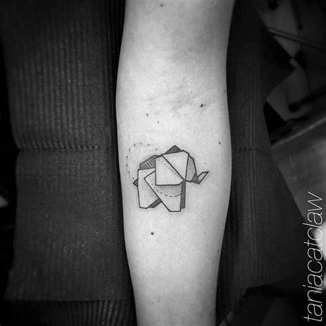 paper elephant tattoo origami elephant tattoo