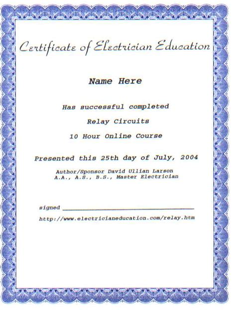 Work Experience Certificate Of Electrician When You Finished All Ten Assignments Successfully Make Your Images Frompo