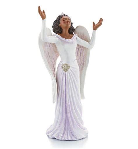 beautiful angel african american hallmark christmas ornament christmas ornaments