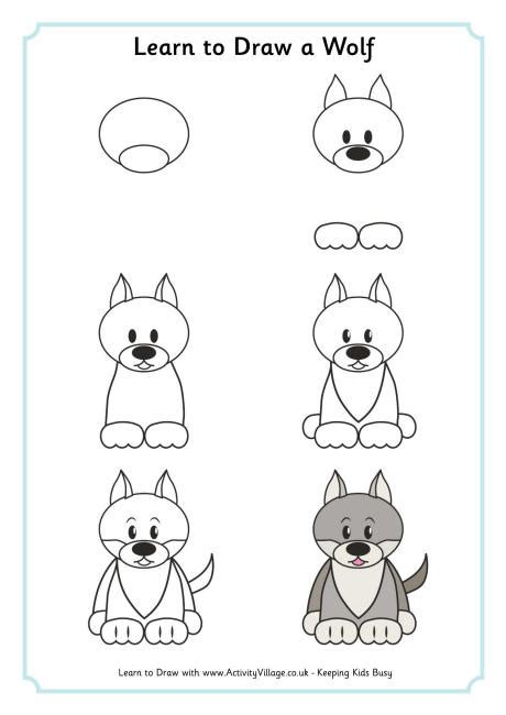 learn to draw learn to draw a wolf