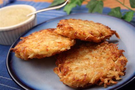 perfect potato pancakes mrfood com
