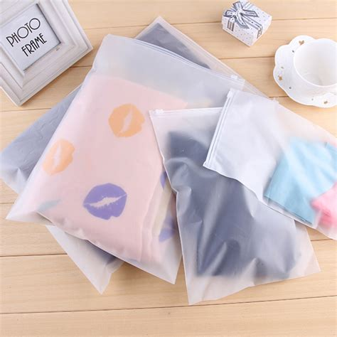 aliexpress ziplock bags 2pcs matte frosted travel pouch storage bag sealed