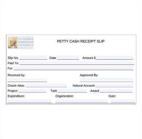 Petty Receipt Template Uk by 8 Petty Receipt Template Pdf Free Premium