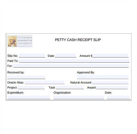 petty cash receipt template   premium