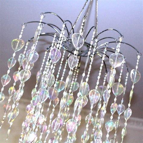 iridescent acrylic bead chandelier