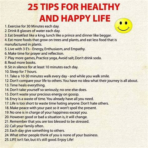 life tips image gallery happy life tips