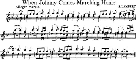 when johnny comes marching home free violin sheet