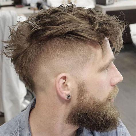 curly mohawk beard mohawk fade