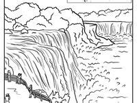 coloring page of niagara falls 25 best images about canada coloring pages on pinterest
