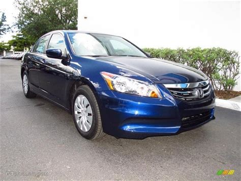 2012 honda accord colors 2012 royal blue pearl honda accord lx sedan 65753007