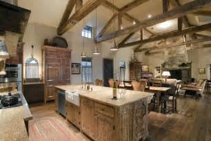 Rustic Wood Home Decor Amazing Barndominium Interiors Kitchen Rustic With Wood