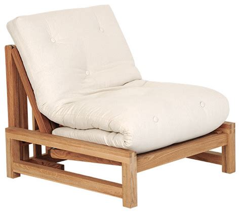 Linear Single Seater Solid Birch Sofa Bed Coastal Single Seater Sofa Bed