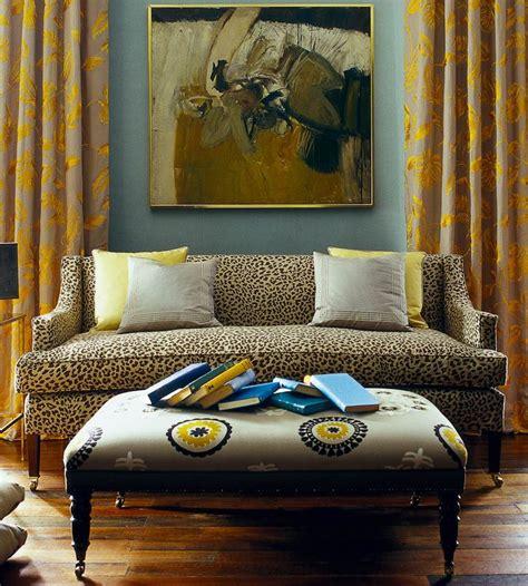 interior design classic animal print ocelot fabric by