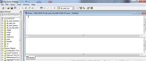 cara membuat database di query analyzer lilis suryani cara membuat database menggunakan sql server