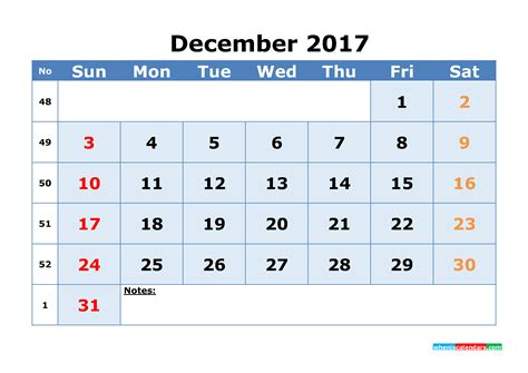 Calendar By Week Number 2017 December 2017 Calendar Printable With Week Numbers Dodger