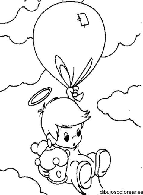 imagenes de niños jugando con globos para colorear angeles