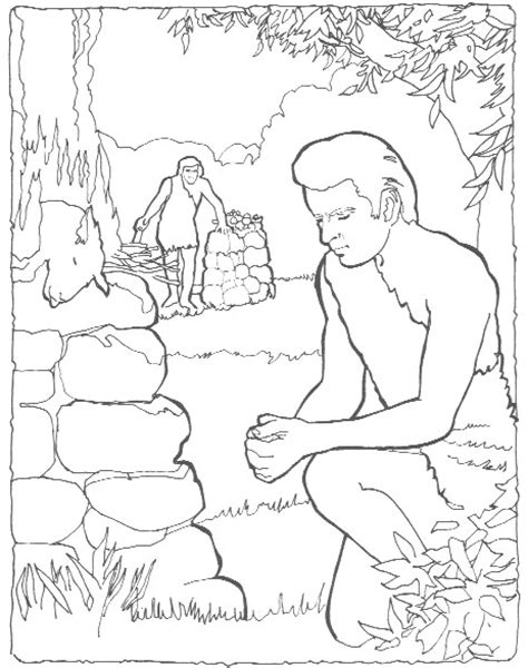 cain and abel printable coloring pages