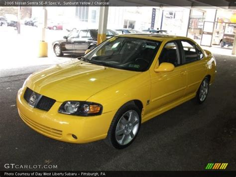 nissan sentra yellow 2006 nissan sentra se r spec v in sunburst yellow photo no