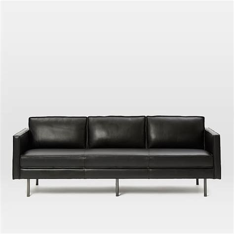 west elm axel sofa axel leather sofa 89 quot west elm