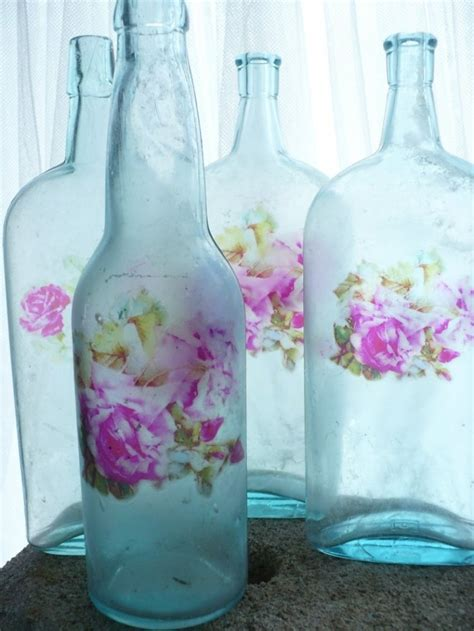 Talenan Decoupage Shabby Chic 3 shabby chic decoupage of glass bottles founterior