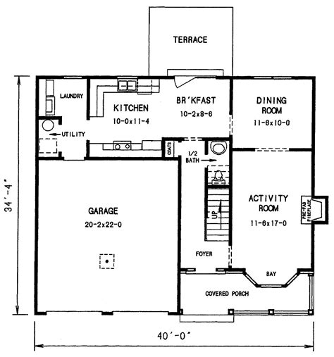 first floor plan featured house plan pbh 3684 professional builder house plans