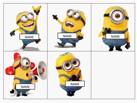 Free Editable Name Tags Minions Minions Pinterest | minion mayhem free editable name tags educational