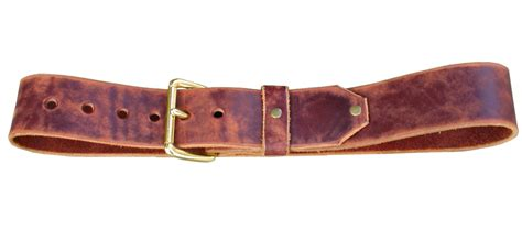 handmade 2 inch wide distressed cognac leather belt