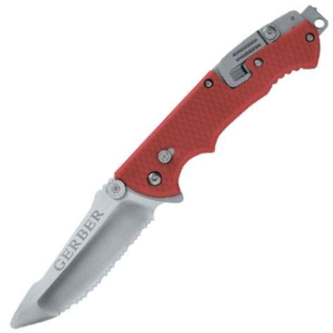 gerber ems knife gerber hinderer rescue knife