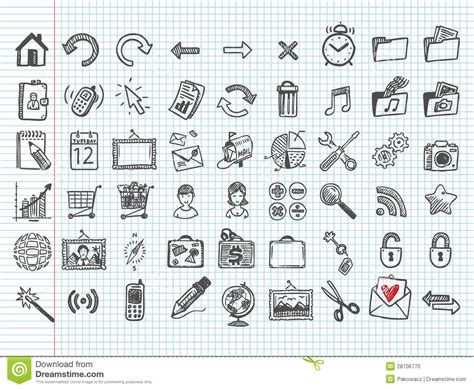 how to use doodle kit set of 54 doodle icons stock vector image of refresh