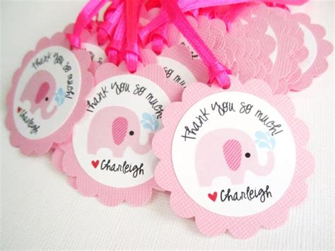 Pink Elephant Baby Shower Favors by Pink Elephant Favor Tags For Baby Shower