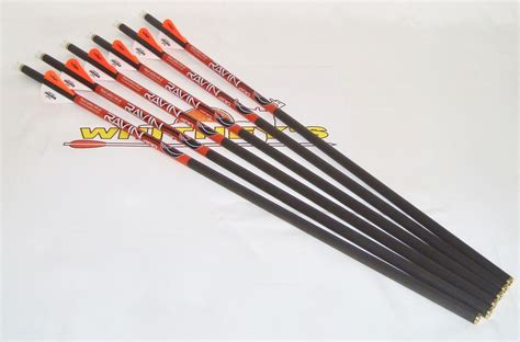 lighted nocks for ravin crossbow raven crossbows llc ravin arrows bolts 400grain 6pk r130