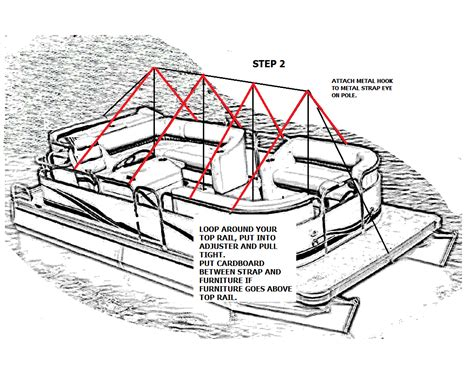 pontoon winter storage cover northstar products inc winter storage systems for pontoon
