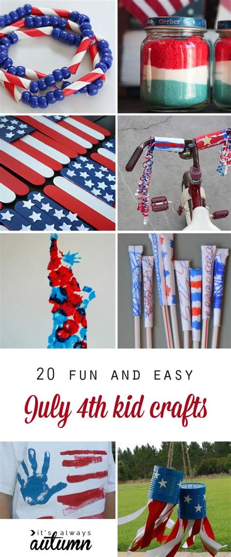 4th of july kid crafts and easy fourth of july crafts for it s always