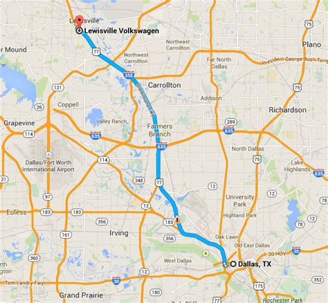 map of lewisville texas get directions to hendrick volkswagen lewisville from dallas your local dallas vw dealer