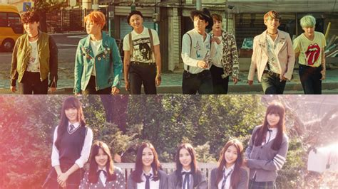 bts gfriend korean media outlet lists bts gfriend as surprising