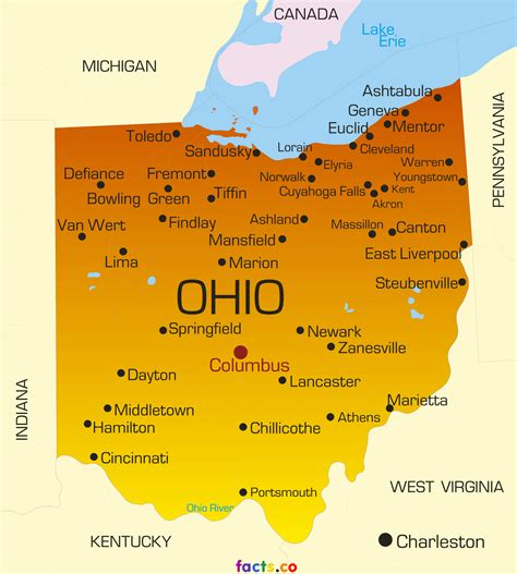 map of ohio rivers and cities ohio maps political physical cities and blank outline