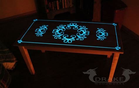 glow table glow in the table custom epoxy resin coffee