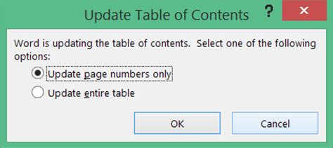 How To Update Table Of Contents In Word by How To Create Table Of Contents In Word 2013 Toc Office