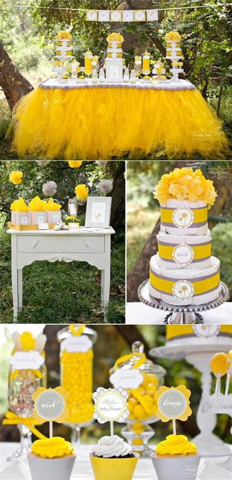 cute yellow themes kara s party ideas dandelion dreams wishes boy girl baby