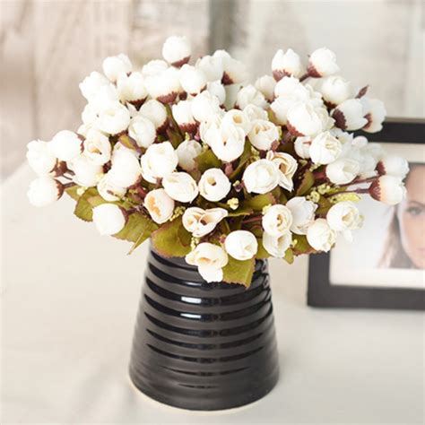 artificial flower for home decor artificial hydrangea bouquet home decor wedding bridal silk flowers ebay